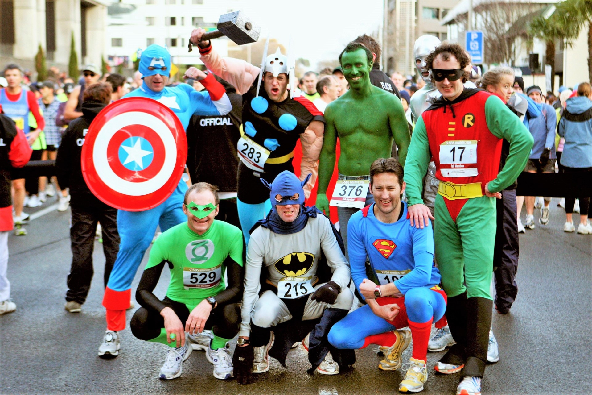 All marathoners are super heroes